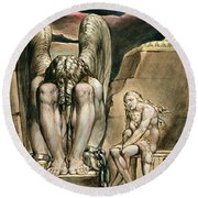 P.127-1950.pt1 Albions Angel Round Beach Towel