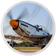 P51 The Brat Round Beach Towel