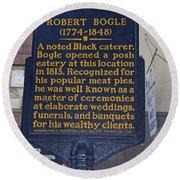 Pa-131 Robert Bogle 1774-1848 Round Beach Towel
