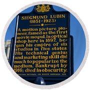 Pa-133 Siegmund Lubin 1851-1923 Round Beach Towel