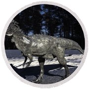 Pachycephalosaurus Round Beach Towel