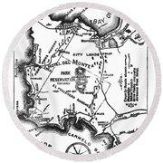 Pacific Grove And Vicinity  Monterey Peninsula California  Circa 1880 Round Beach Towel
