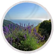 Pacific Lupines Round Beach Towel