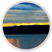 Pacific Northwest Morning Round Beach Towel