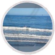 Pacific Surfer Round Beach Towel