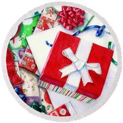 Packages Boxes And Bags Round Beach Towel