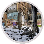 Packard Plant Detroit Michigan - 11 Round Beach Towel