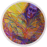 Paco De Lucia And Guardian Angel Round Beach Towel