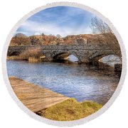 Padarn Bridge Round Beach Towel