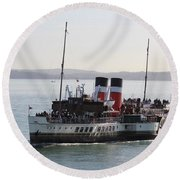 Paddle Steamer Round Beach Towel