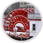 Paddle Wheel Round Beach Towel by Tom and Pat Cory