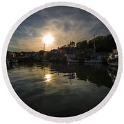 Padstow Dusk  Round Beach Towel
