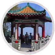 Pagoda Pavilion Round Beach Towel
