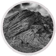 Pahranagat Mountains Round Beach Towel