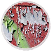 Paint Abstract Round Beach Towel