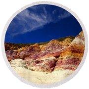 Paint Mines Beauty Round Beach Towel