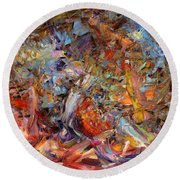 Paint Number 43a Round Beach Towel by James W Johnson