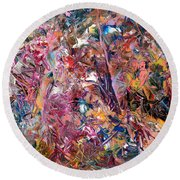 Paint Number 49 Round Beach Towel