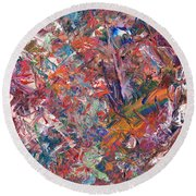 Paint Number 50 Round Beach Towel by James W Johnson
