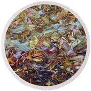 Paint Number 51 Round Beach Towel by James W Johnson