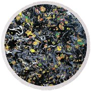 Paint Number Eleven Round Beach Towel