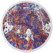 Paint Number Five Round Beach Towel