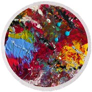 Paint Party Round Beach Towel