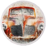 Painted 1940 Desoto Deluxe Round Beach Towel