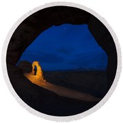 Painted Arch Round Beach Towel by Dustin  LeFevre