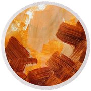 Painted Background Texture Round Beach Towel