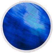 Painted Blue Round Beach Towel