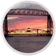 Painted Bridge Round Beach Towel