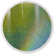 Painted By Water And Light Round Beach Towel