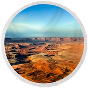 Painted Canyonland Round Beach Towel