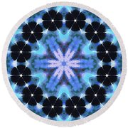 Painted Cymatics 108.00hz Round Beach Towel