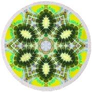 Painted Cymatics 181.66hz Round Beach Towel