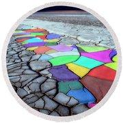 Painted Desert Round Beach Towel