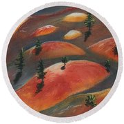 Painted Dunes Round Beach Towel