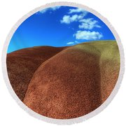 Painted Hills Blue Sky 2 Round Beach Towel