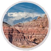 Painted Hills Of The Upper Jurrasic Round Beach Towel