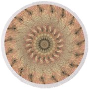 Painted Kaleidoscope 1 Round Beach Towel