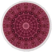 Painted Kaleidoscope 12 Round Beach Towel
