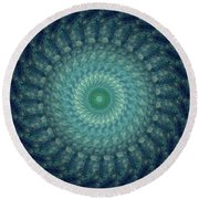 Painted Kaleidoscope 3 Round Beach Towel