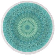 Painted Kaleidoscope 4 Round Beach Towel
