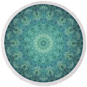 Painted Kaleidoscope 5 Round Beach Towel