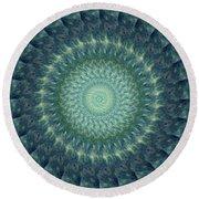 Painted Kaleidoscope 6 Round Beach Towel