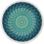 Painted Kaleidoscope 7 Round Beach Towel