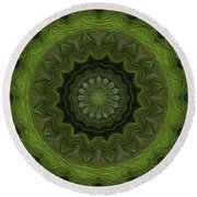 Painted Kaleidoscope 8 Round Beach Towel
