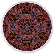 Painted Lobster Kaleido Round Beach Towel