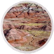 Painted Mounds Round Beach Towel